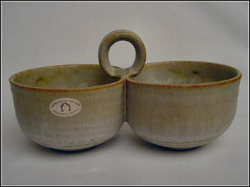 Cripplesease Pottery  Double Bowl