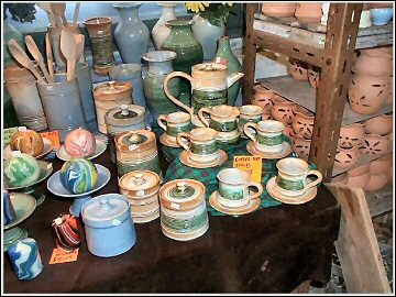 St Nectan's Pottery - coffee set