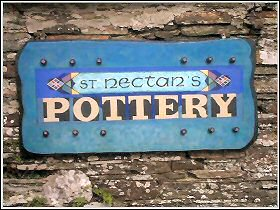St Nectan's Pottery sign