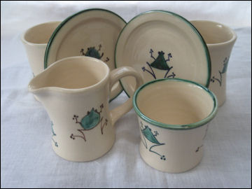 Frog coffee set